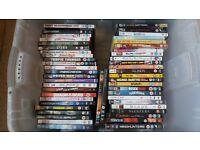 I have 124 Dvds + 15 Boxsets.