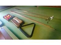 8x4 mahogany slate bed snooker / pool table