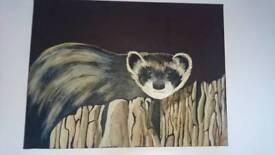 Large original animal painting