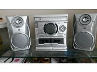 Dual 3 CD cassette player hifi stereo system