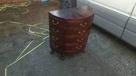 sunburst mahogany 12 drawer chest