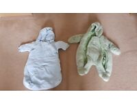 Pair cosy Baby pramsuits