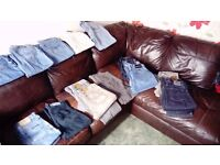 Various mens jeans 30w and 32leg