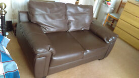 LARGE BROWN 2 SEATER SOFA - GOOD CONDITION *BARGAIN*