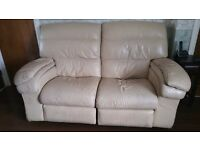 2 two seater recliners cream *free* however must collect. Throckley
