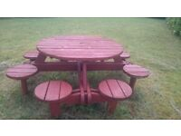Solid 8 seater picnic table in great condition