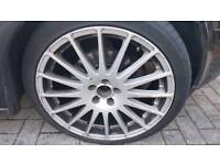18 inch OZ superturismo alloy wheels and tyres