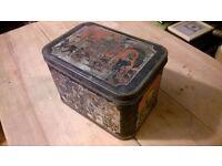 Vintage Large Interwar Tin (Indian Theme)