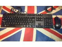 Dell UK USB Keyboard KB1421 & Optical USB Mouse XN966