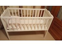 Baby rail bed & brand new baby highchair