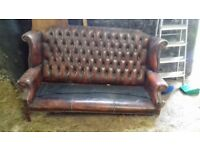 Chesterfield 3 Seat Sofa for Refurbishment or Project