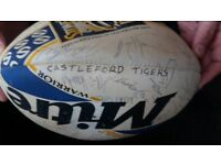 rugby ball signed