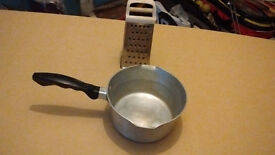Small Stainless Steel Pan & Stainless Steel Food Grater
