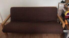 The Futon Company sofa bed with cushions