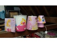 Disney princess bin & lamp shade bundle