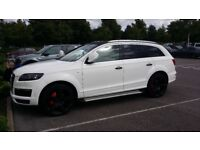 """AUDI Q7 S LINE QUATTRO 3.0 TDI WRAPPED IN WHITE WITH 22"""" ALLOY WHEELS + FSH"""
