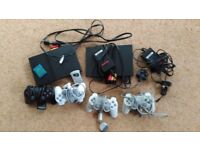 Sony Playstation PS2 Slim Black Games Consoles