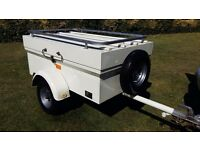 SARIS BOX TRAILER CAMPING FISHING TIP RUN TRAILOR CAR VAN BIKE RACK