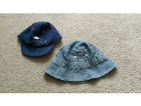Baby boys summer hats and pram shoes