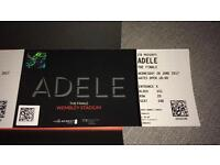 ADELE 2xTickets for 28th June 2017 Price is for both tickets