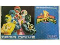 Power Rangers Sega game manual