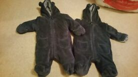 First size and 0-3 pramsuits
