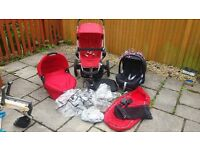 Quinny Buzz Pushchair, Carrycot, Maxi Cosi Car Seat + accessories - Great Condition