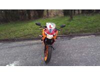 Honda cbr125 orange 2016