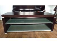 Tv unit solid wood,2 glass shelves, excellent condition, bought from sony centre