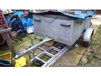 Car trailor,5x4ish 2feet deep good condition,full electrics ,jockey wheel,drop down tail gate & cove