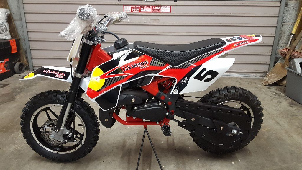 new red pf 50cc kids motorbike automatic