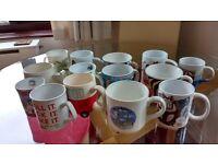 14 assorted mugs
