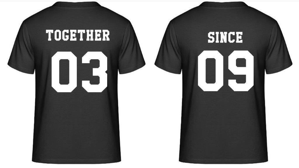 Partner T-Shirts - Together Since