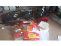 **Canon AL 1 Quick Focus SLR Camera and accessories**
