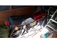 Custom made motorcycle original suzuki wheels very reliable. Reconditioned engine.