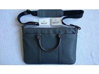 Bally luxury leather laptop bag - brand new