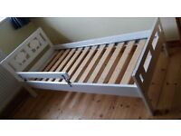 White Ikea Toddler Bed.