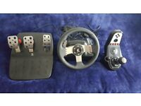 Logitech G27 Steering Wheel with Shifter Pedals PC/PS3