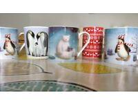 4 Marks & Spencer Christmas Mugs + 1 regal Spencer Christmas Mug