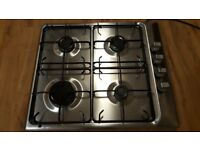 Zanussi 4 Burner Stainless Steel Gas Hob. Good Condition
