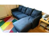 IKEA 3-seat sofa with chaise longue