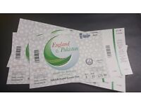 4 tickets England v Pakistan 2nd ODI Cricket match @ Lord's 27th Aug £150