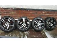 "18"" Audi/Vw/T4/Merc 5 x 112pcd Diamond Cut & Black Alloy Wheels"