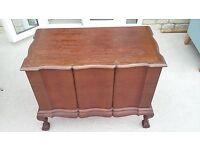Teak wooden chest