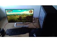 "HIGH END GAMING PC: i7-6700 / GTX 1070 / 16GB RAM + 24"" FullHD AOC MONITOR + accessories"