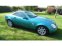 1998 Mercedes Benz SLK 230 Kompresor Auto Low Mileage Turquoise Green Convertible Sports Car