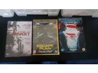 Curse of chucky, fist fight ,escape plan and bat man v superman dvd