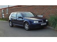 Volkswagen Golf 1.9 GT TDI (130 BHP) + 2003/53 + 130 BHP + 6 Speed Gearbox + Family Owned From New +