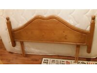 Free Headboard for double bed - massive wood - Warrington