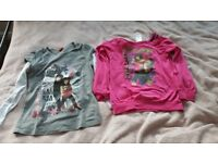 2 tops with long sleeved Camp Rock 7-9 yrs girl